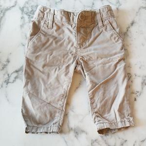 Khaki Pull-On Pants, Size 3-6 Months